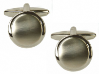 Dalaco 90-2213 Dual Finished Round Rhodium Plated Cufflinks